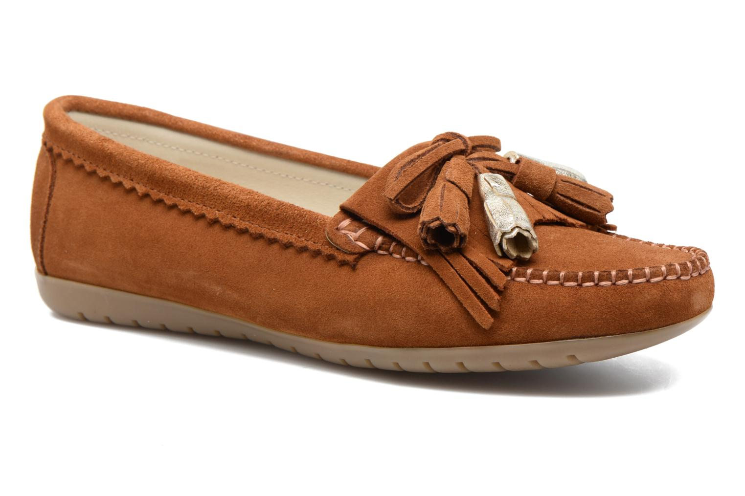 Loafers Georgia Rose Retoumi Brown detailed view/ Pair view