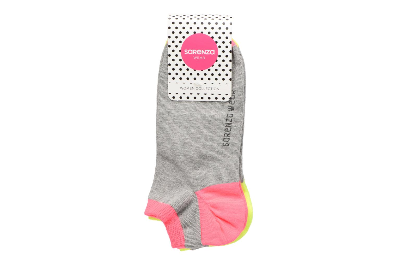 Medias y Calcetines Sarenza Wear Chaussettes invisibles Femme fluo Pack de 3 Coton Gris vista del modelo