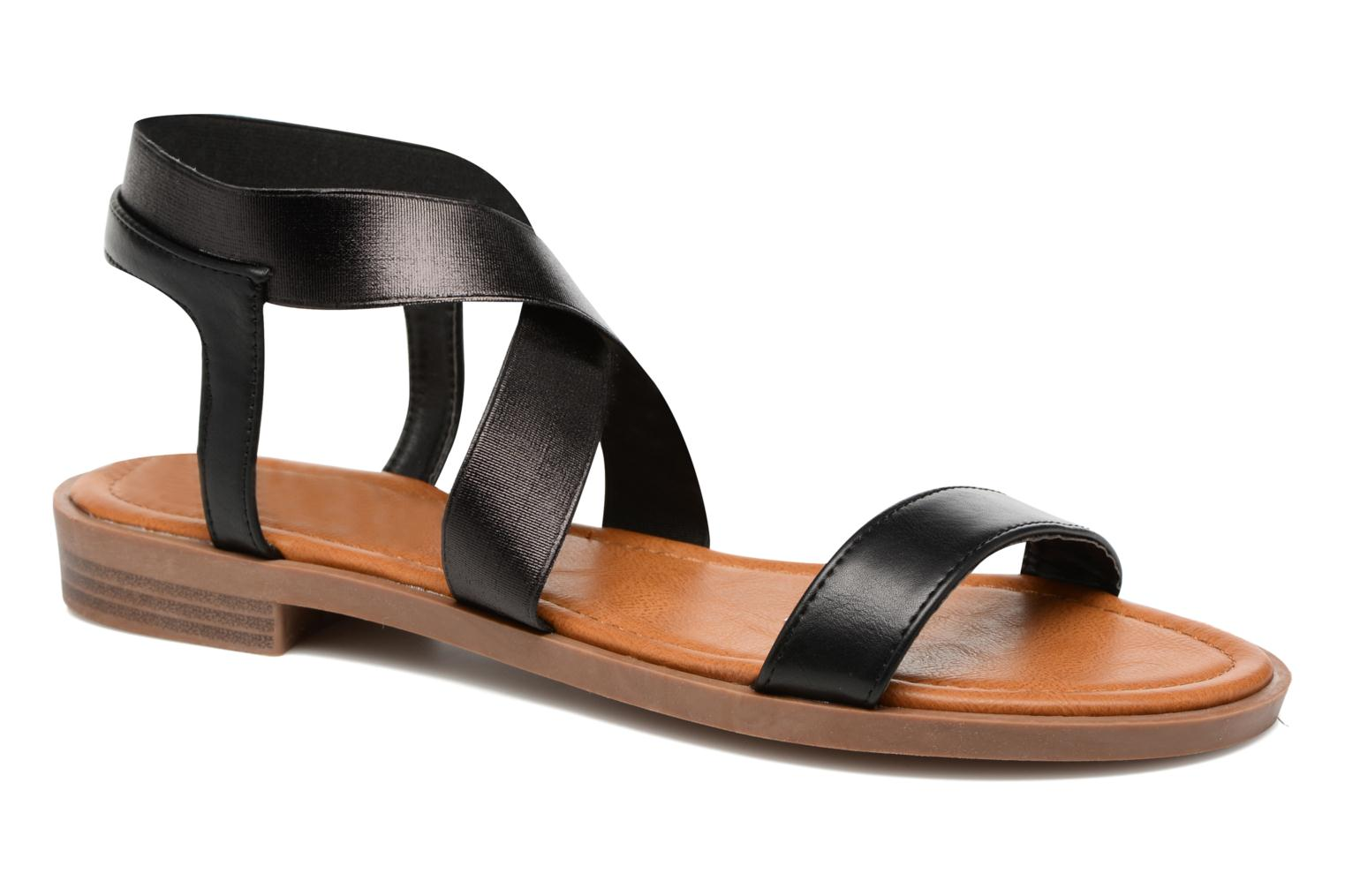 Sandals I Love Shoes THAVA Size + Black detailed view/ Pair view