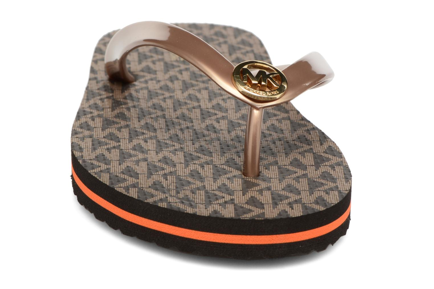 Flip flops Michael Michael Kors Mk Flipflop Stripe Brown model view
