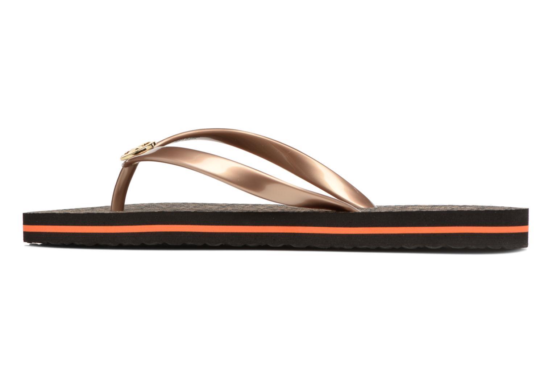 Flip flops Michael Michael Kors Mk Flipflop Stripe Brown front view