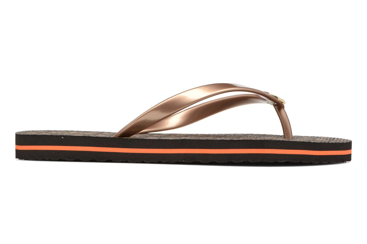 Flip flops Michael Michael Kors Mk Flipflop Stripe Brown back view