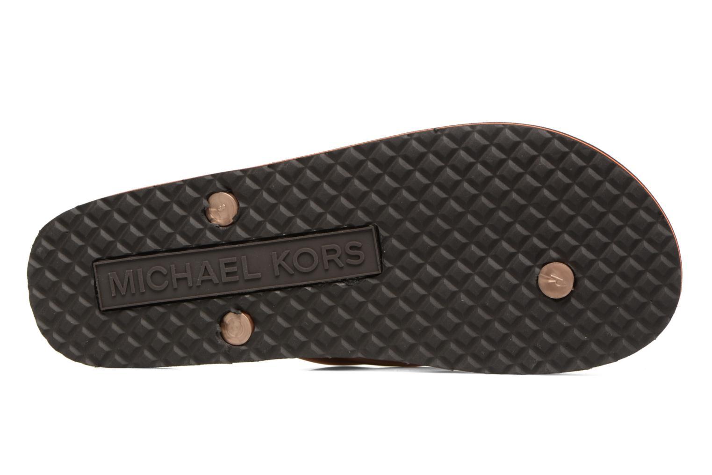 Infradito Michael Michael Kors Mk Flipflop Stripe Marrone immagine dall'alto