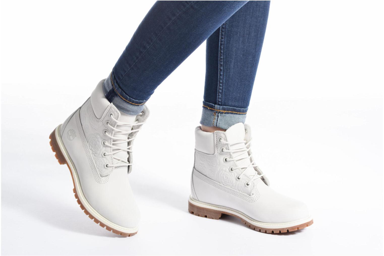Bottines et boots Timberland 6in Prenium Boot Blanc vue bas / vue portée sac