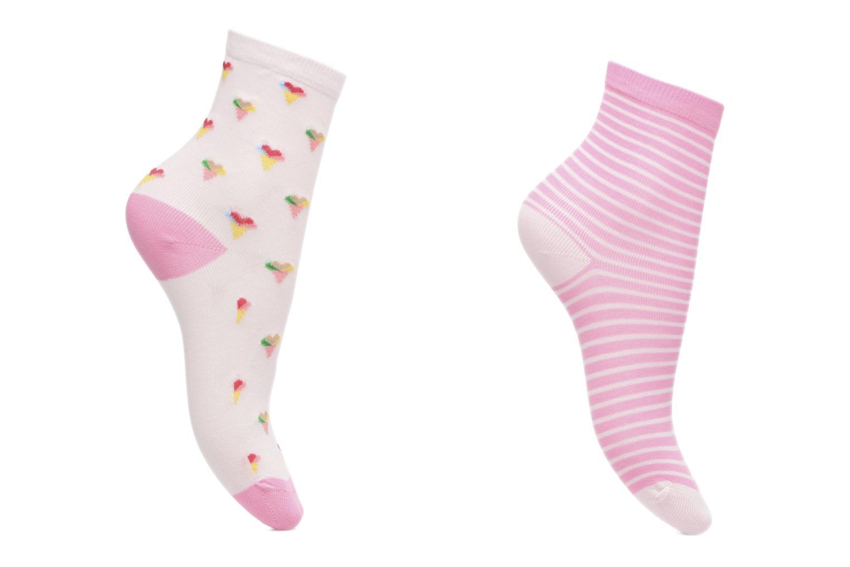 Medias y Calcetines Sarenza Wear Chaussettes Pack de 2 Fille : Glaçes Coton Rosa vista de detalle / par