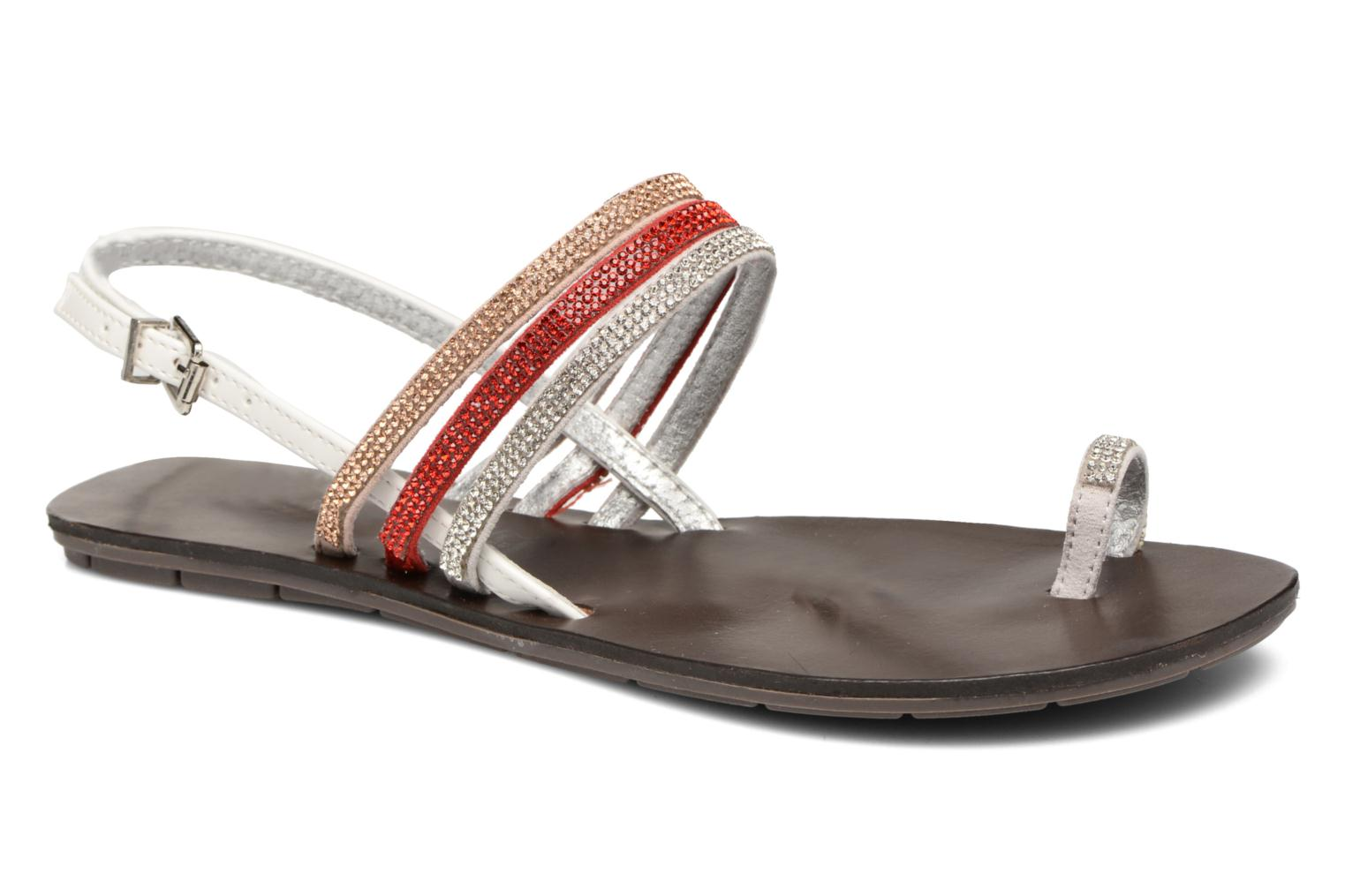 Sandals Chattawak Nina Red detailed view/ Pair view