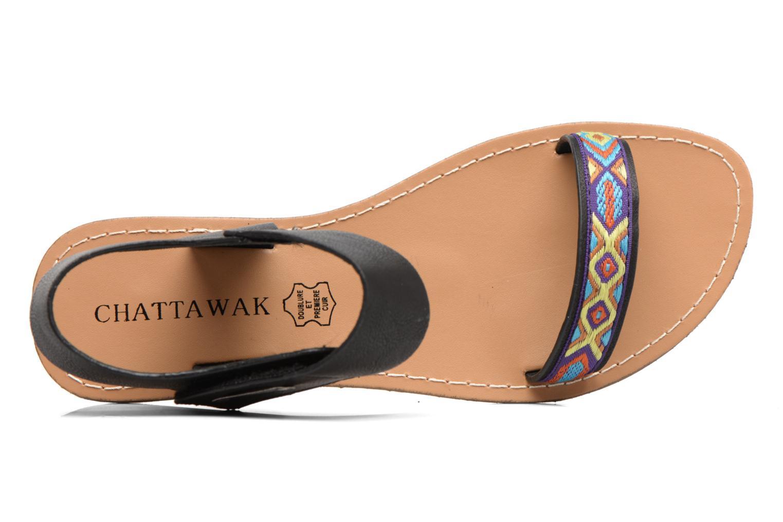 Sandales et nu-pieds Chattawak Louisiane Noir vue gauche