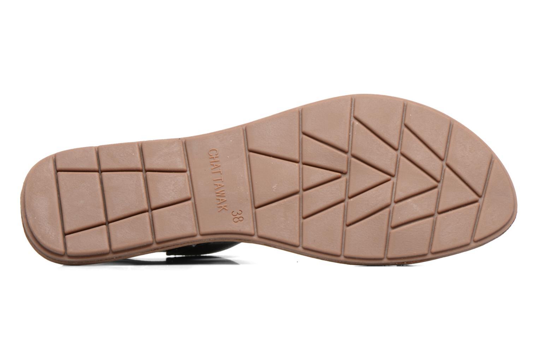 Sandales et nu-pieds Chattawak Louisiane Noir vue haut
