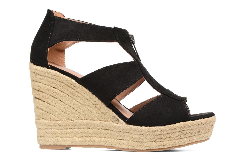 Sandales et nu-pieds Chattawak Debby Noir vue derrière