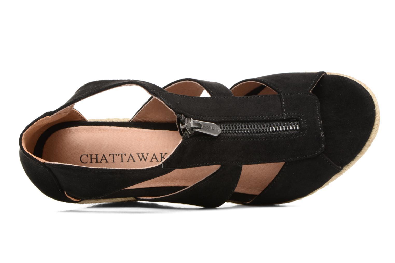 Sandalias Chattawak Debby Negro vista lateral izquierda
