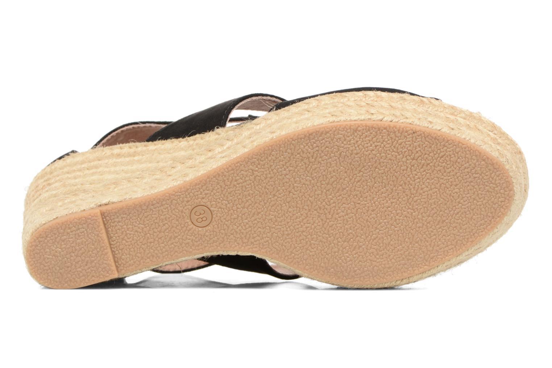 Sandalen Chattawak Debby Zwart boven