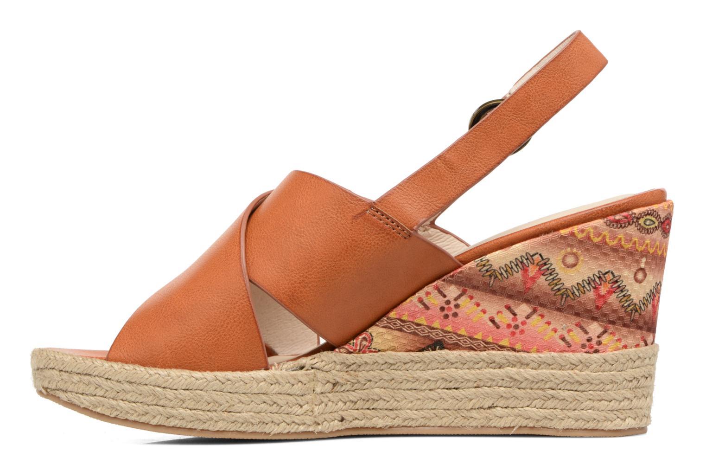 Sandales et nu-pieds Chattawak Julie Marron vue face