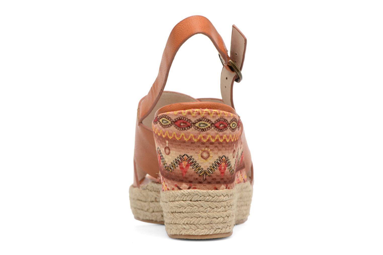 Sandales et nu-pieds Chattawak Julie Marron vue droite