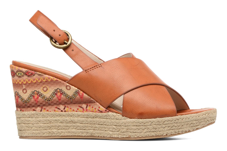 Sandales et nu-pieds Chattawak Julie Marron vue derrière