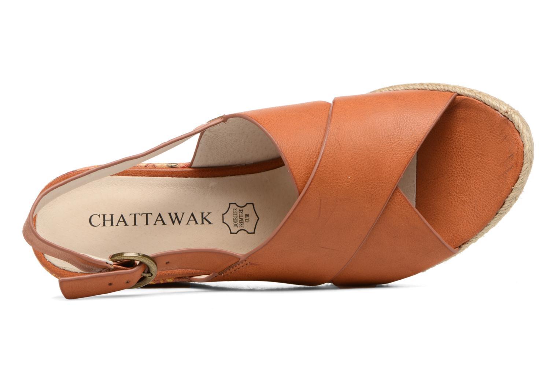 Sandales et nu-pieds Chattawak Julie Marron vue gauche