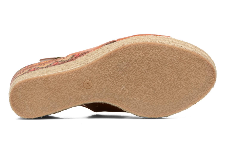 Sandales et nu-pieds Chattawak Julie Marron vue haut