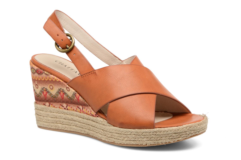 Sandales et nu-pieds Chattawak Julie Marron vue détail/paire