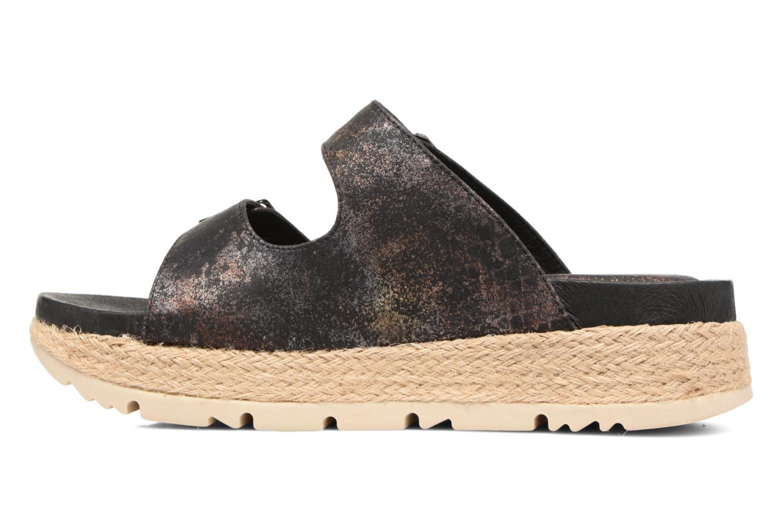 Sandales et nu-pieds Chattawak Lisette Noir vue face