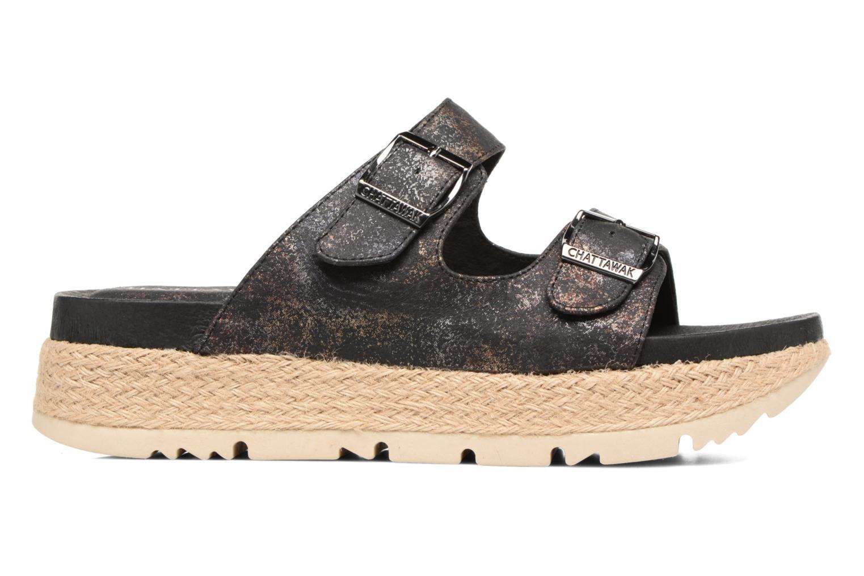Sandales et nu-pieds Chattawak Lisette Noir vue derrière