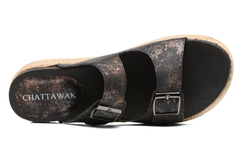 Sandales et nu-pieds Chattawak Lisette Noir vue gauche
