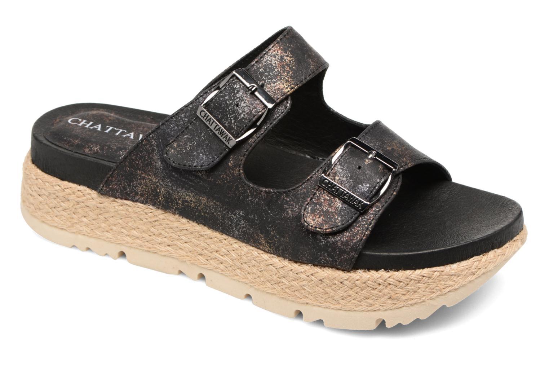 Sandales et nu-pieds Chattawak Lisette Noir vue détail/paire