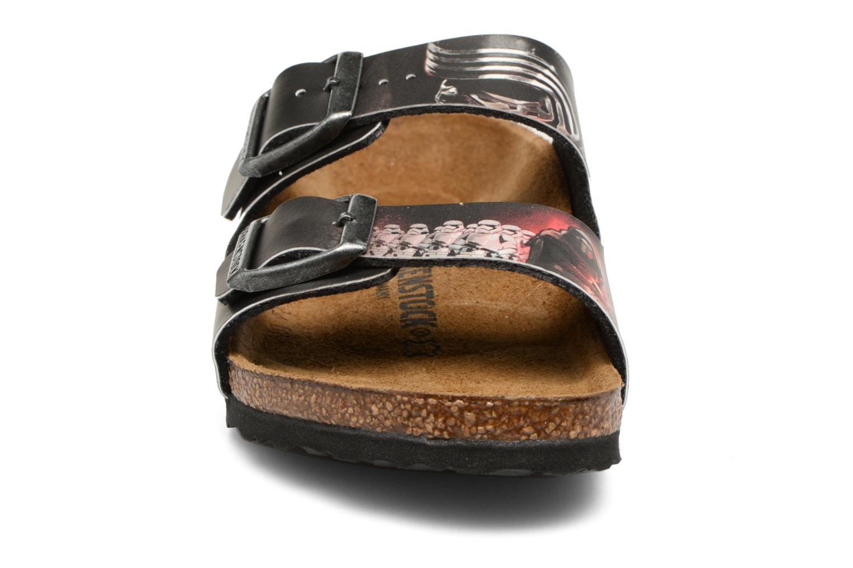 Sandales et nu-pieds Birkenstock Arizona  Birko Flor Noir vue portées chaussures
