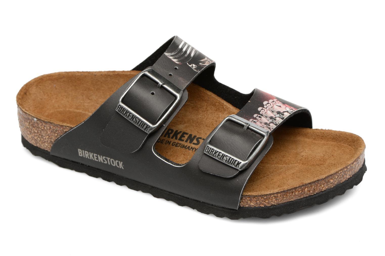 Sandales et nu-pieds Birkenstock Arizona  Birko Flor Noir vue détail/paire