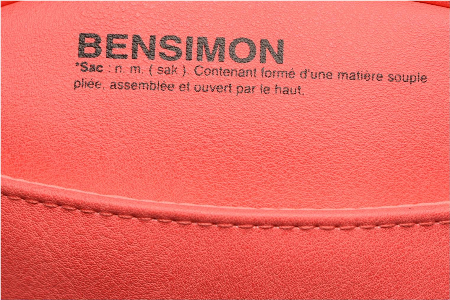Sacs à main Bensimon Fancy Fake leather Roung bag Rose vue derrière