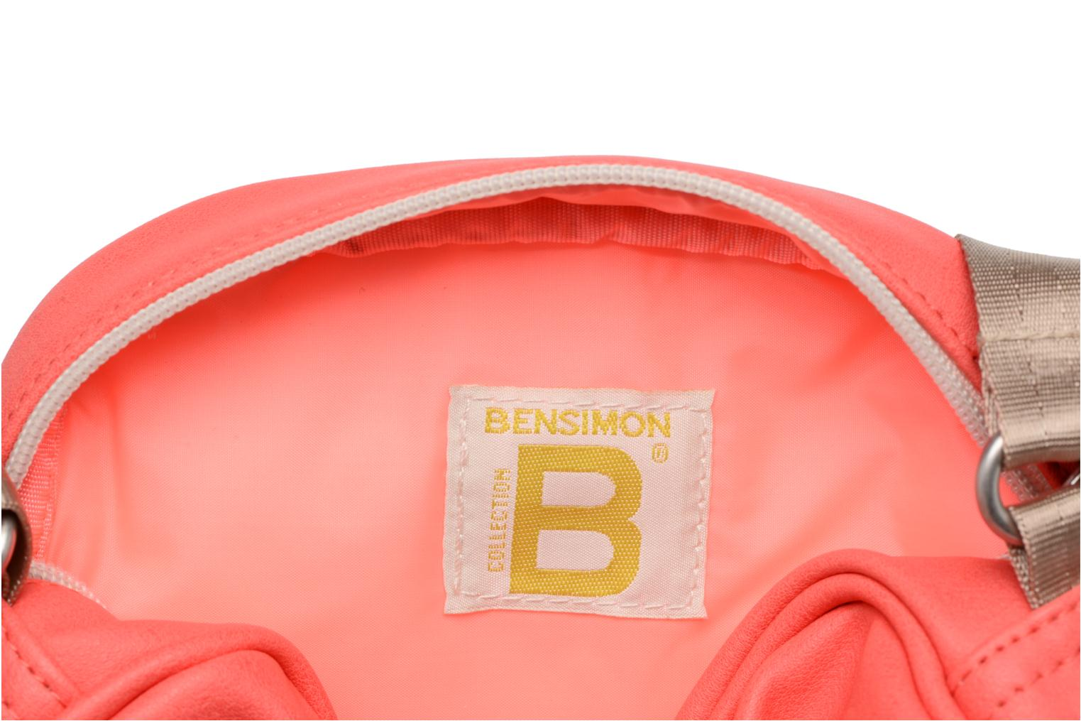 Sacs à main Bensimon Fancy Fake leather Roung bag Rose vue haut