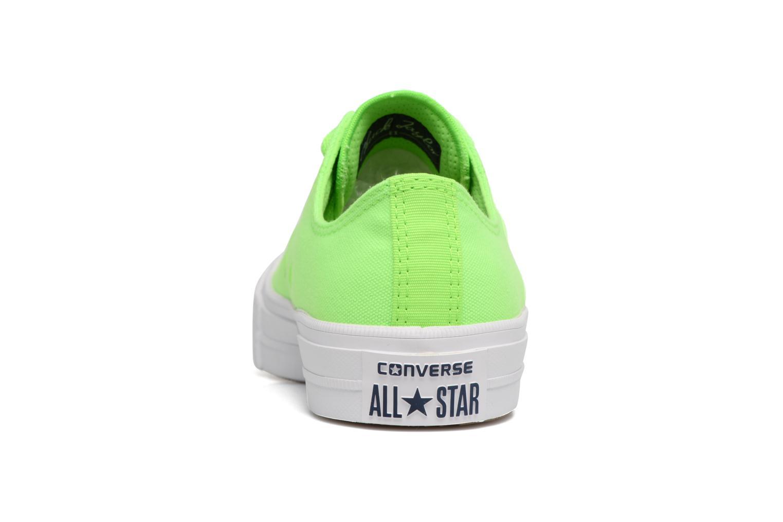 Baskets Converse Chuck Taylor All Star II Ox Neon W Vert vue droite