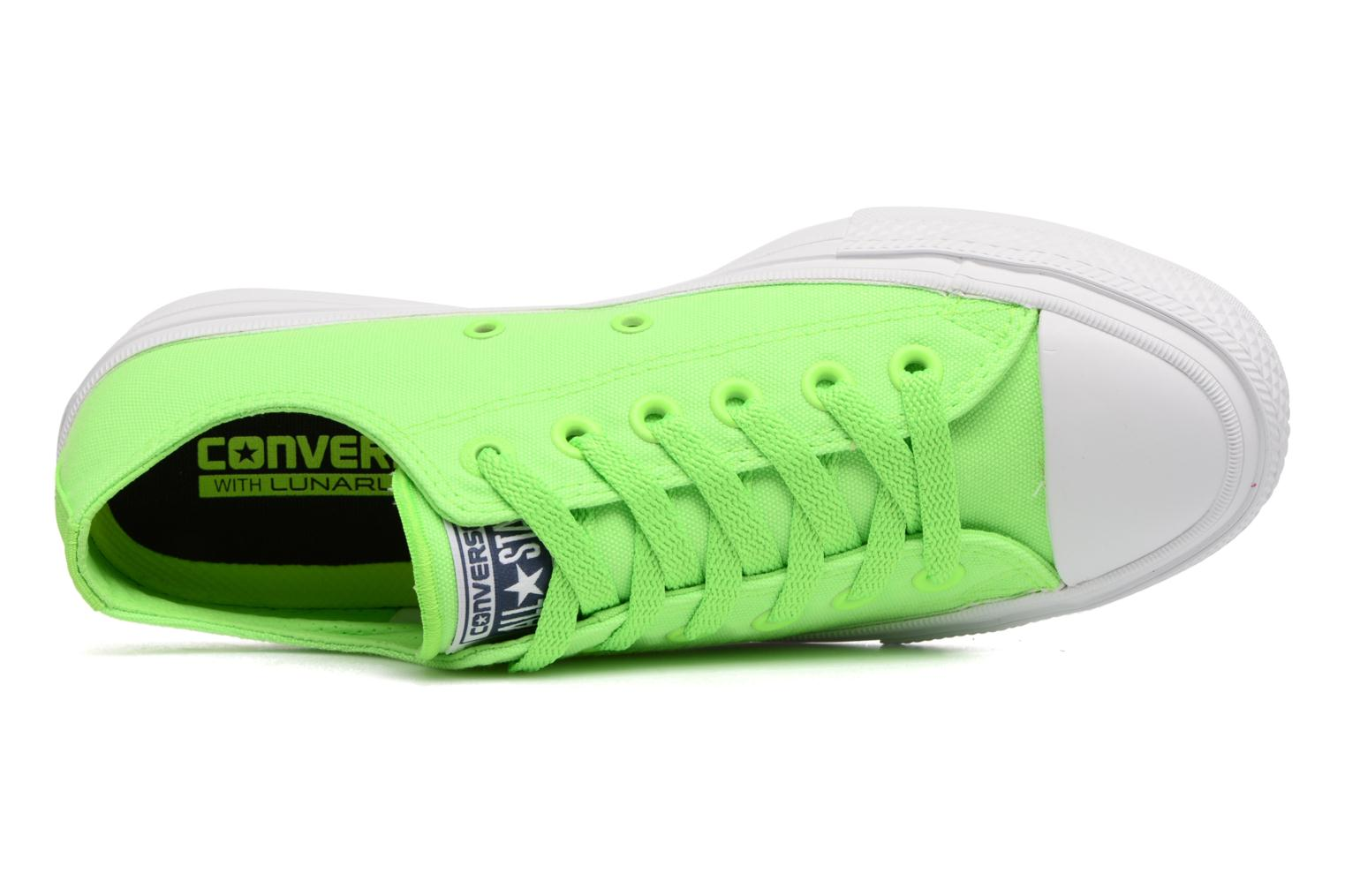 Sneakers Converse Chuck Taylor All Star II Ox Neon W Verde immagine sinistra