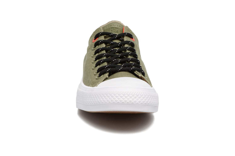 Baskets Converse Chuck Taylor All Star II Ox Shield Lycra M Vert vue portées chaussures