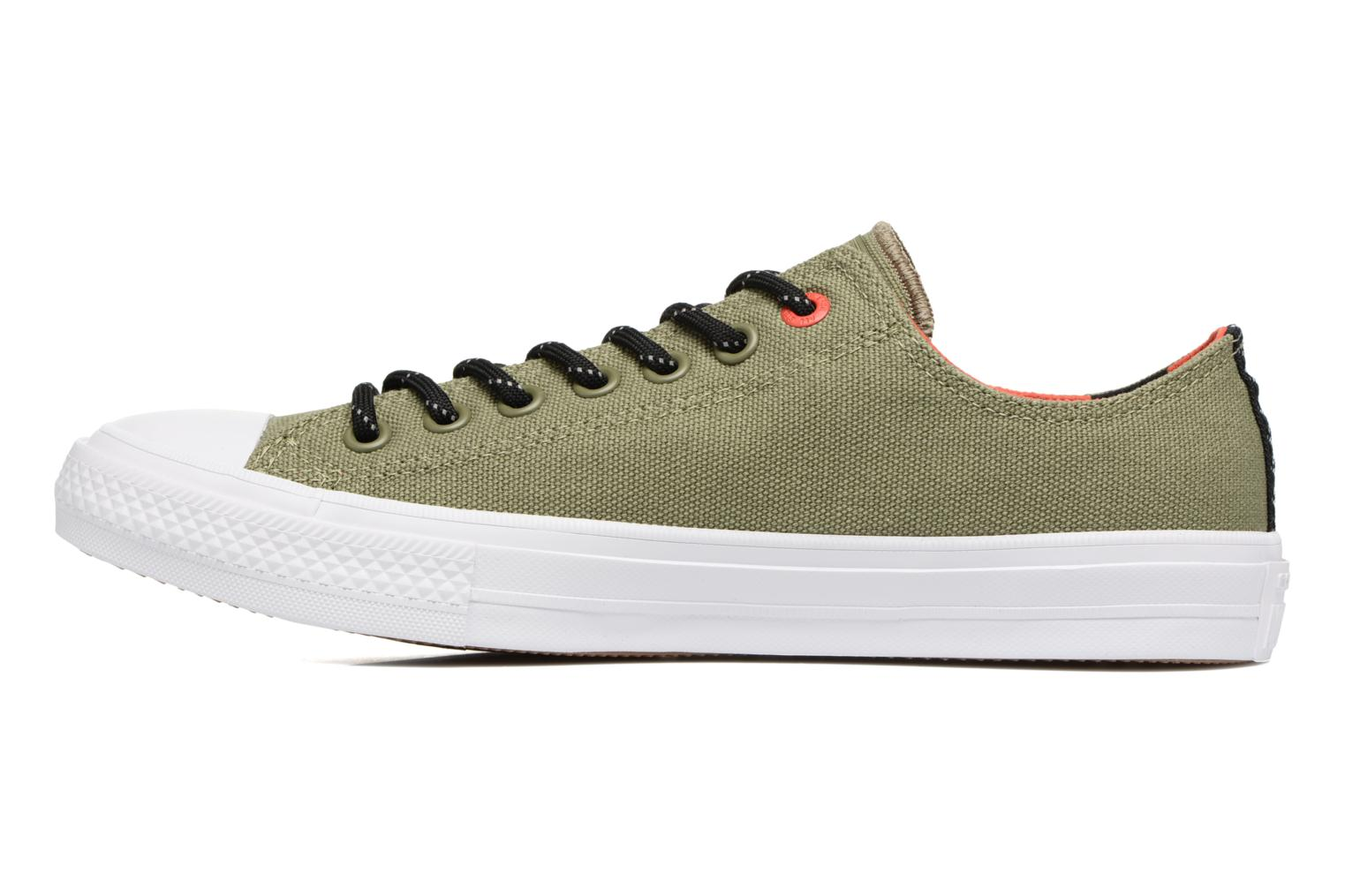 Chuck Taylor All Star II Ox Shield Lycra M Fatigue Green/Signal Red