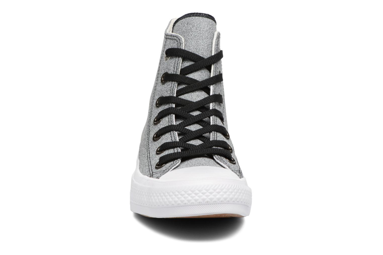 Baskets Converse Chuck II Two-Tone Leather Hi W Noir vue portées chaussures