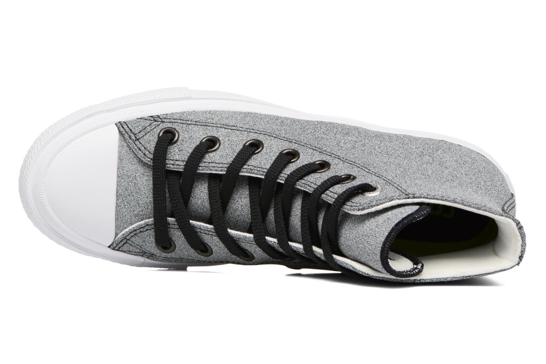 Baskets Converse Chuck II Two-Tone Leather Hi W Noir vue gauche