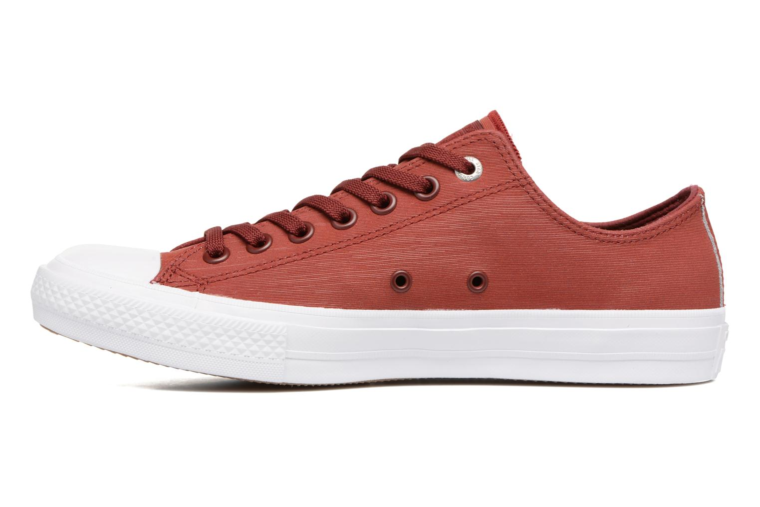 Baskets Converse Chuck II Two-Tone Leather Ox M Rouge vue face