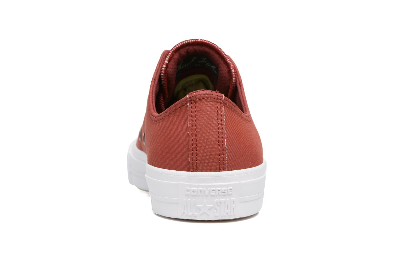 Baskets Converse Chuck II Two-Tone Leather Ox M Rouge vue droite
