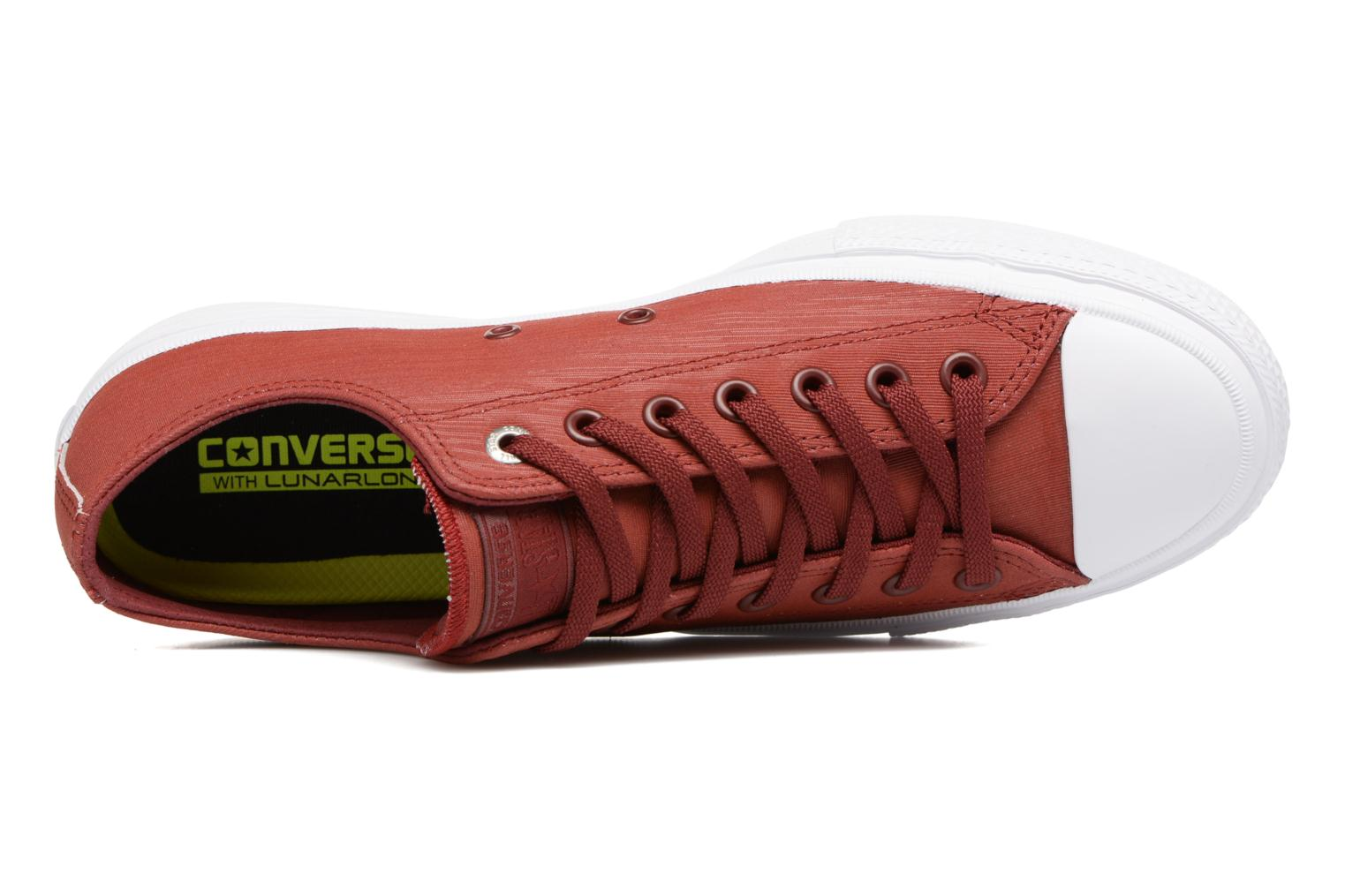 Baskets Converse Chuck II Two-Tone Leather Ox M Rouge vue gauche