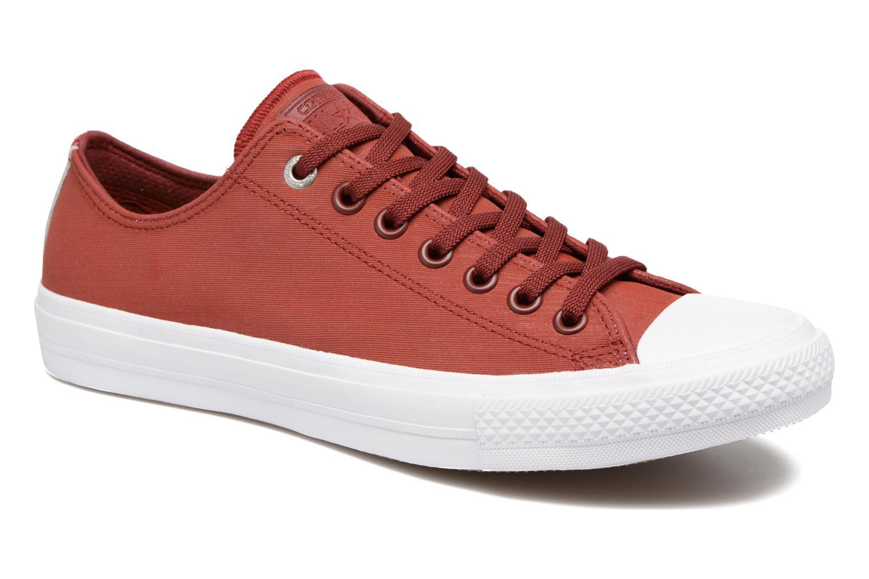 Baskets Converse Chuck II Two-Tone Leather Ox M Rouge vue détail/paire