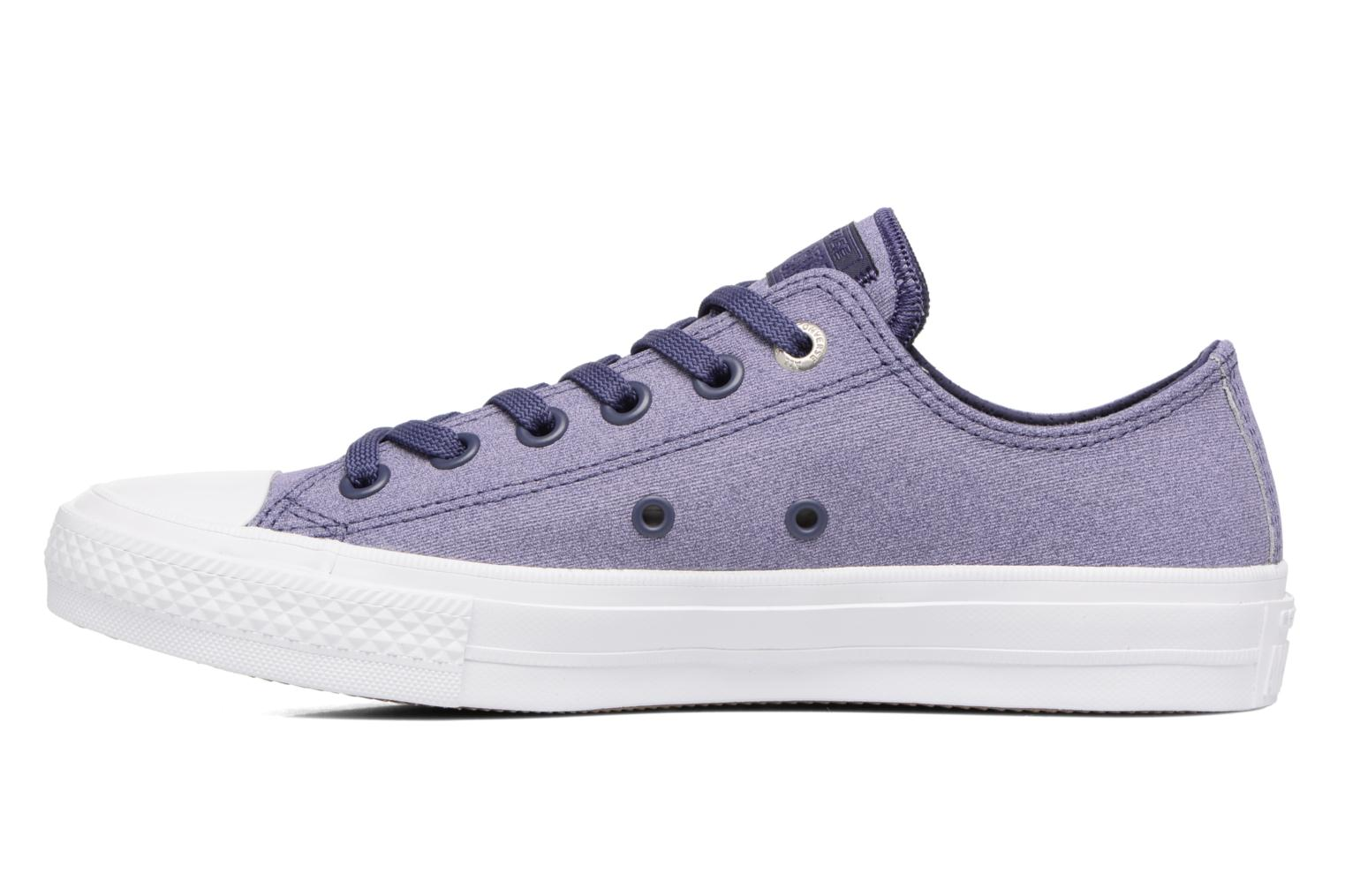 Baskets Converse Chuck II Two-Tone Leather Ox W Violet vue face