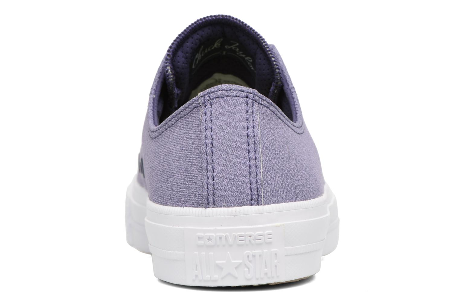Baskets Converse Chuck II Two-Tone Leather Ox W Violet vue droite