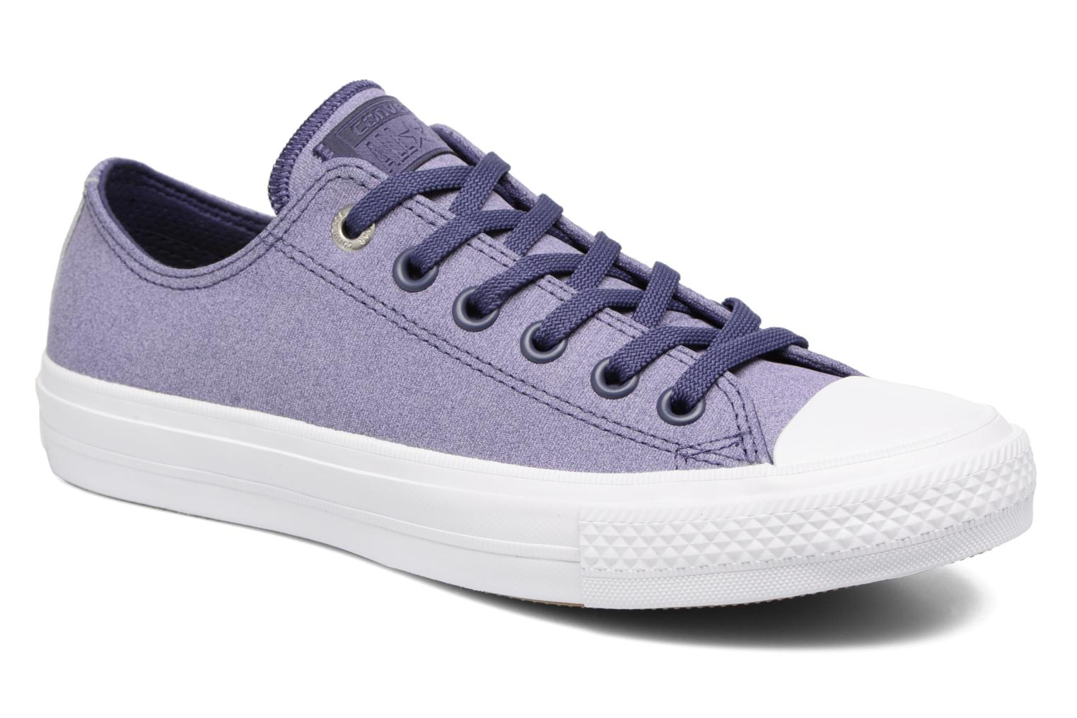 Baskets Converse Chuck II Two-Tone Leather Ox W Violet vue détail/paire