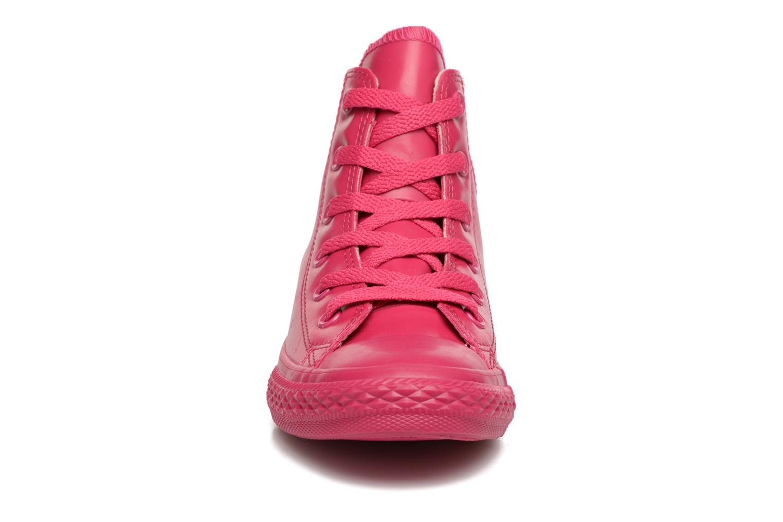 Baskets Converse Chuck Taylor All Star Rubber Hi K Rose vue portées chaussures