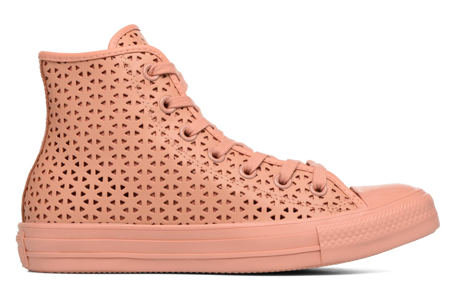 Baskets Converse Chuck Taylor All Star Hi Perforated Canvas Rose vue derrière