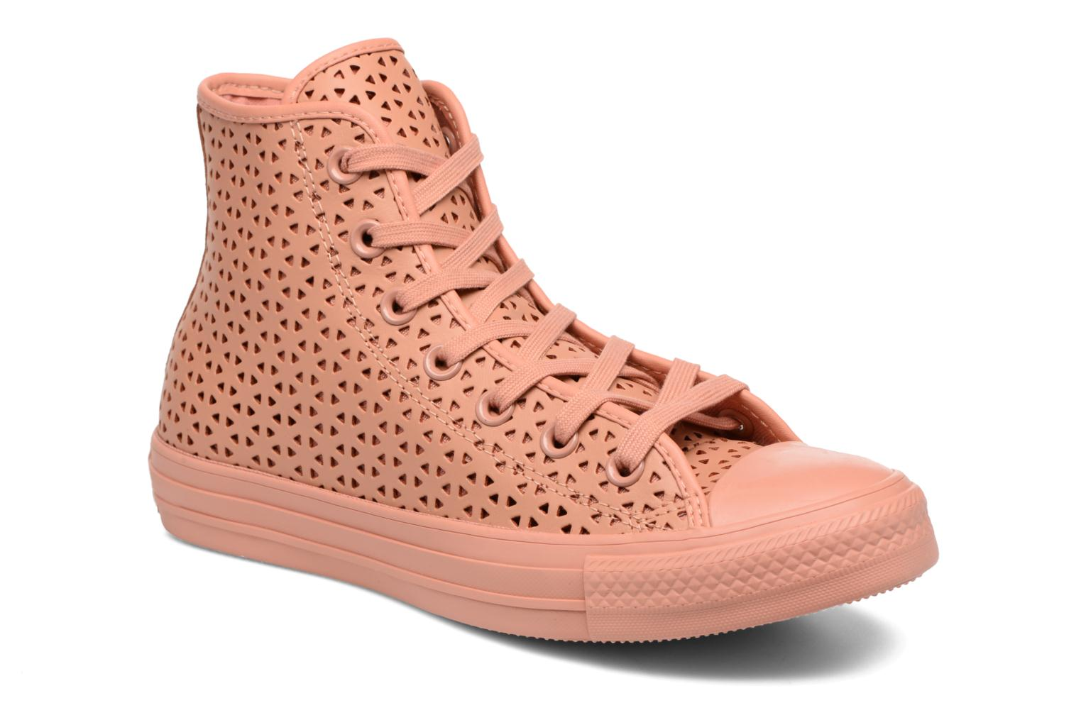 Baskets Converse Chuck Taylor All Star Hi Perforated Canvas Rose vue détail/paire