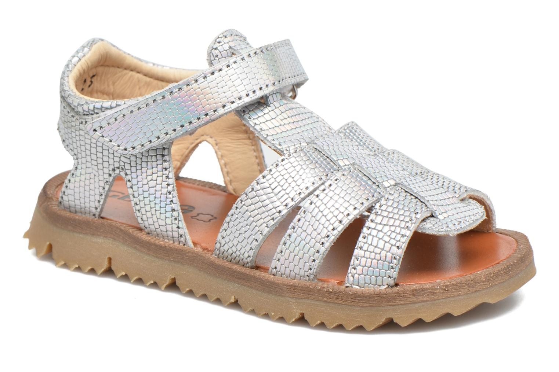 Sandales et nu-pieds GBB Magdalena Argent vue détail/paire