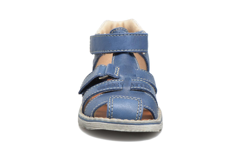 Sandalen GBB Mathurin blau schuhe getragen