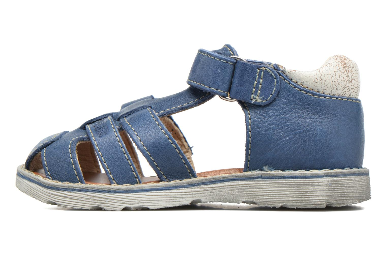 Sandals GBB Mathurin Blue front view