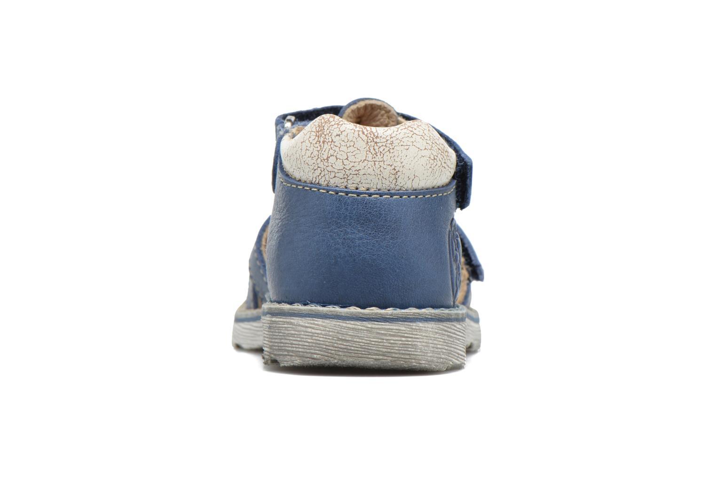 Sandalen GBB Mathurin blau ansicht von rechts