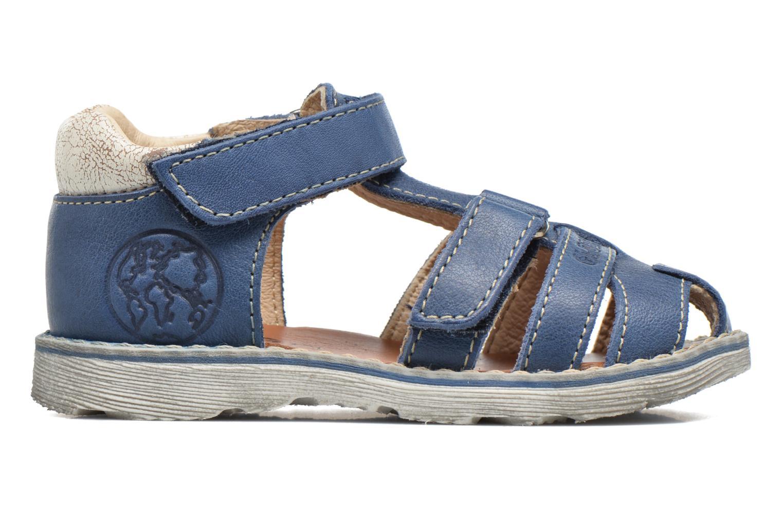 Sandalen GBB Mathurin blau ansicht von hinten